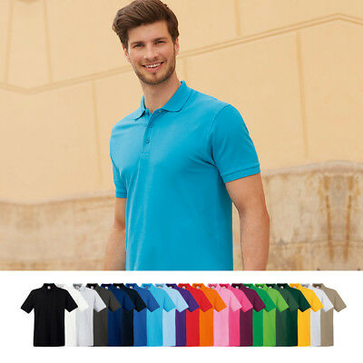 FRUIT OF THE LOOM Premium Polo Shirt S, M, L, XL, XXL, 3XL NEU!
