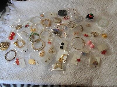 Large Lot of Vintage Costume Retro Jewelry-50 Pieces-ALL GOOD-Lot 1