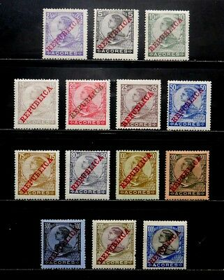Azores, Portugal: 1910 Stamp Collection Set Scott #126-39 Unused Cv $30.80