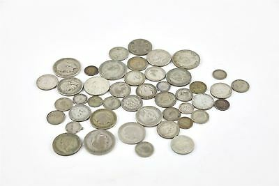 Lot of Vintage Pre 1947 George V&VI British Silver Circulated Mixed Coins -242g