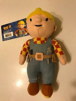 "BO-0303 Bob the Builder Plush Clip-On 7.5"" BRAND NEW with TAGS"