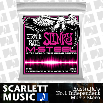 Ernie Ball 2923 M-Steel Super Slinky Electric Guitar Strings - 9-42