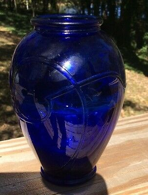 Mosser Cobalt Blue Glass  Vase 5 1/4""
