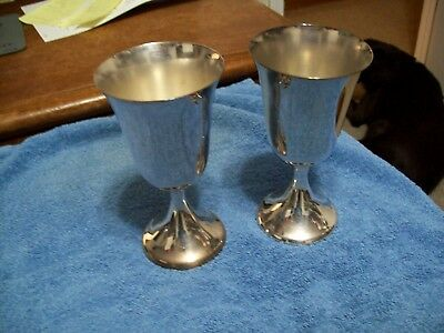 """Set Of 2 F B Rogers Silverplate Goblets 6 1/4"""""""