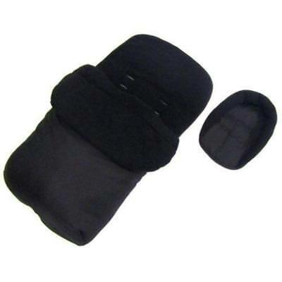 Deluxe 2in1 Universal Black Footmuff & Headhugger To Fit Joie Nitro LX