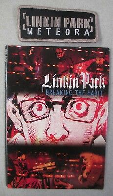 2004 Promo Linkin Park Breaking The Habit Cd Single With Music Video Dvd + Patch