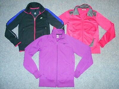 3 Nike Puma Womens Medium Athletic Track Jackets Lot                          A7
