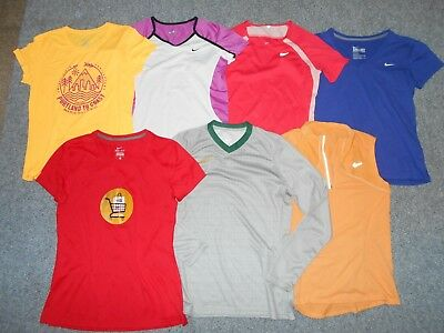 7 Nike Dri-Fit Fitdry Womens Medium Athletic Running Shirts  Lot              A7