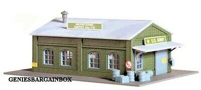 2 N SCALE buildings from model power US Army Munitions Depot