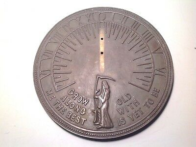 Vintage Brass Sundial Face Father Time Clock Part Garden Architectural Gift