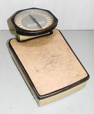 VINTAGE 1930's FIRSTAID BATHROOM SCALE UNITED DRUG BOSTON DOCTOR OFFICE ART DECO