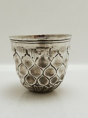 A Stunning Early 18Th Century C1753 Solid Silver German Tumbler