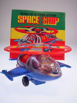 "GSR ROBOT ""U-TURN ACTION SPACE SHIP"" MTU KOREA, 18cm, WIND UP, NEU/NEW/NEUFnBOX"