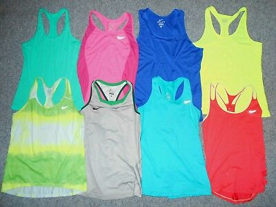 8 Nike Dri-Fit Womens Medium Athletic Running Tank Tops Lot                   A8