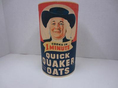 Original Vintage QUICK QUAKER OATS Cardboard Container SEALED Chicago IL empty
