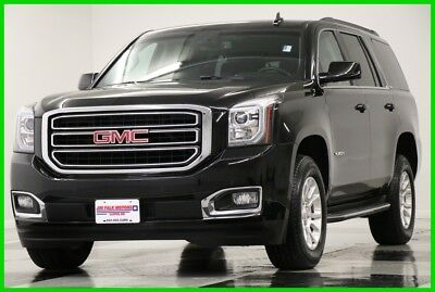 2016 GMC Yukon 4X4 SLT Leather Camera Onyx Black 4WD Used Heated Cooled Seats Bluetooth  8 Passenger Power Liftgate 17 15 2017 16 SUV
