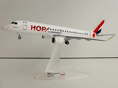 HOP! For Air France Embraer E190 1/200 Herpa 557276 190 AIRFRANCE HOP F-HBLI