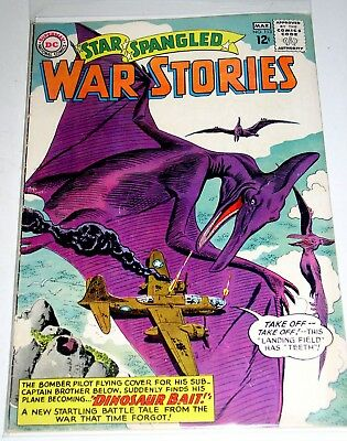 STAR SPANGLED WAR STORIES #113  DINOSAUR ISSUE SILVER AGE DC 1968 Free Shipping
