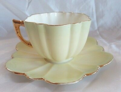 Lovely Vintage Fluted China Coffee Cup & Saucer circa 1889