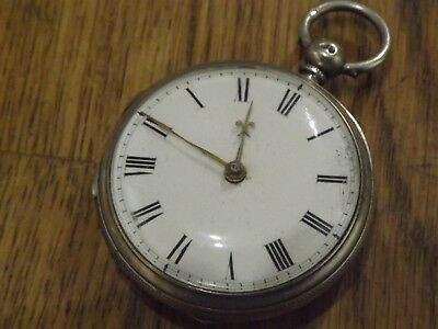 Superb Quality  Solid Silver  Antique Fusee Pocket Watch