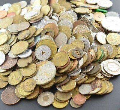 Five Pounds of Mixed Tokens and Medals, Great Variety!! Lot # 7