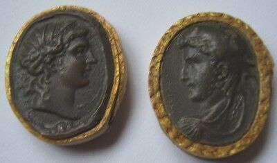 TWO ANTIQUE INTAGLIO GRAND TOUR VERY NICE QUALITY GOOD CONDITION circa 1800 noH