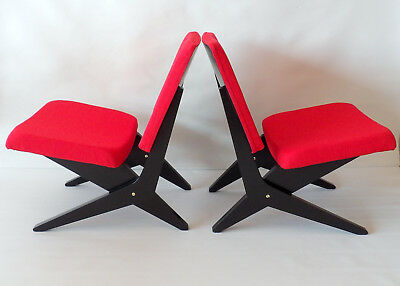 FB18 Scissor Chairs by Jan van Grunsven for UMS Pastoe, 1950s, Set of 2