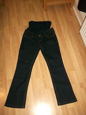 Ladies New Look Over Bump Bootcut  Stretch Maternity Jeans Size 8 30 L