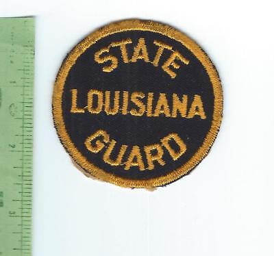 WWII  Louisiana  State Guard   patch   1942 1947 embroidered on twill