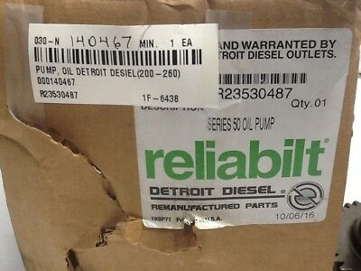 Detroit Diesel R23530487 Series 50 Oil Pump OEM NOS