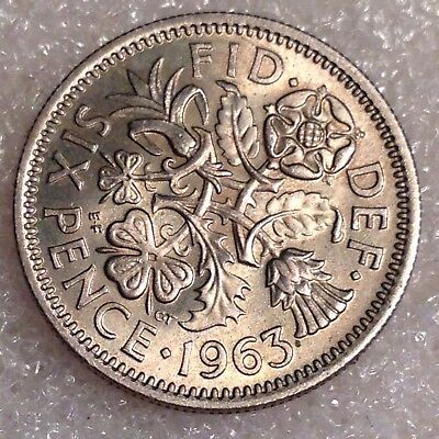 UK Great Britain Sixpence 1963 Copper-Nickel