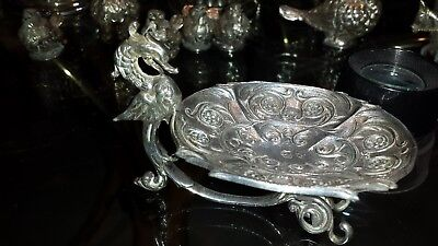 111g STERLING SILVER ELEGANT CENTER antique style BASIS DRAGON DESIGN