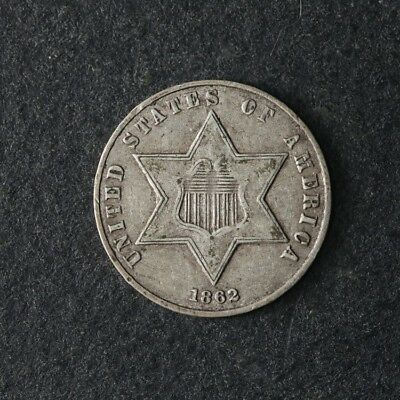 1862 Three (3) Cent Silver Great Deals From The TECC Bargain Bin