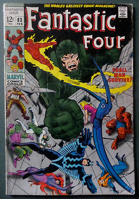 Fantastic Four # 83 Marvel Comic February 1969 Stan Lee Jack Kirby Joe Sinnott