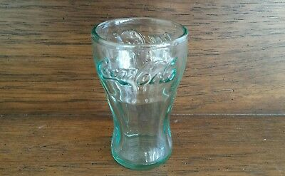 "3.25"" high Clear Green Glass Coke Coca-Cola Glass"