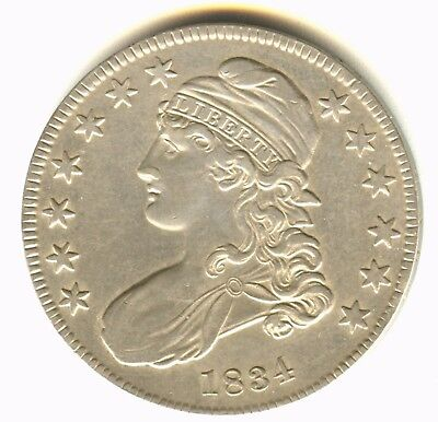 1834 Capped Bust Half Dollar AU++ In Grade Check Variety