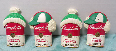 Set Of 4 ~ Campbell's ~ Holiday Christmas ~ Magnets ~ 1993 ~ Beanies Ear Muffs