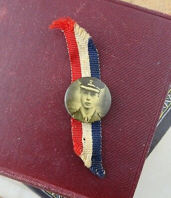 Rare Vintage 1920's King Edward VIII Prince of Wales Pin / Badge on Ribbon