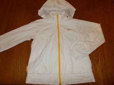 Nike Fit Dry Livestrong Full Zip White Reversible Hooded Jacket Womens Small 4-6