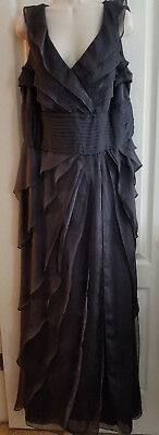 Adrianna Papell Occasions Gorgeous Tiered Chiffon Formal Gown Size 16W