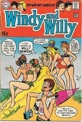 Windy and Willy Comic Book #4 DC Comics 1969 FINE-