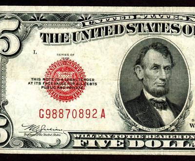 $5 1928E United States Note  ** MORE CURRENCY FOR SALE **