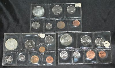 Lot of 3 South Africa Mint Sets 1967, 1968, 1976