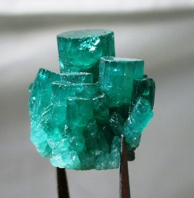 18.2 ct Chatham emerald cluster - lab grown actual emerald cluster