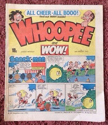 Whoopee And Wow Comic  6 August 1983. Unsold Newsagent Stock. Unread. Vfn