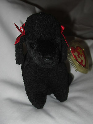 Ty  Original Beanie Baby Retired GiGi Poodle Dog 1997 with All Tags
