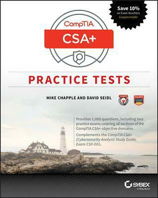 Comptia Cysa+ Practice Tests: Exam CS0-001 by Mike Chapple Paperback Book Free S
