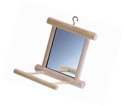 Nobby Wooden Mirror with Landing Place, 10 x 10 x 10 cm