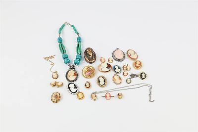 Beautiful Large Lot of Vintage Cameo Themed Mixed Costume Jewellery