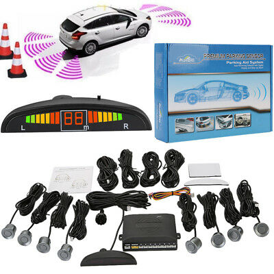 Universal Voice Alert 8 Rear and Front View Backup Car Parking Sensors Detector